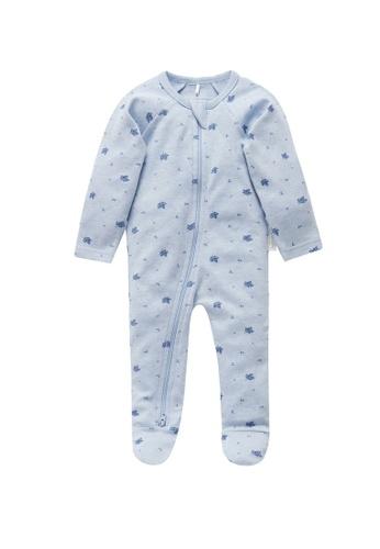 Purebaby blue Zip Growsuit F91C9KA5FF84E0GS_1