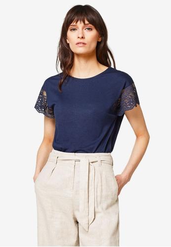 ESPRIT navy Short Sleeve T-Shirt 1D4A6AA4836AD4GS_1