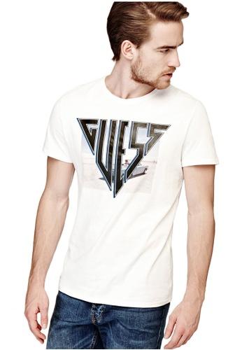 Guess 白色 Guess Logo 印花T恤 925E5AA842305EGS_1