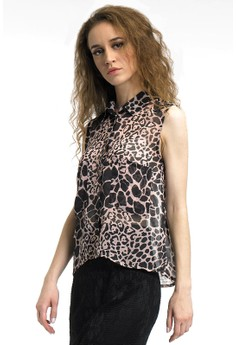 Image of Animal print crop shirt