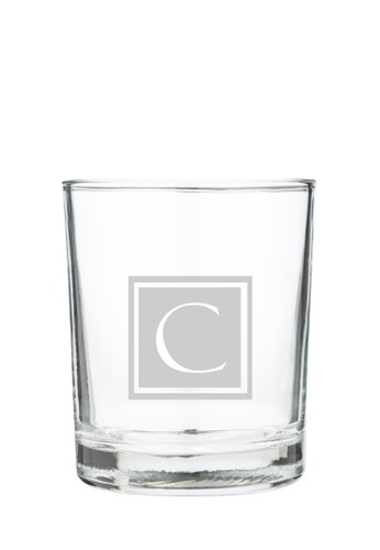 Myriad Print Concepts white Whisky Scotch Glass (Glass-etched Initial) 5C250ES19D412FGS_1