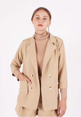 MAGNOLIA brown Basic Blazer 0639EAA7F5777DGS_1