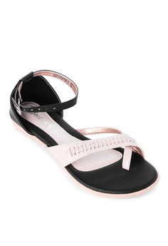 Braided Detail Flat Sandals