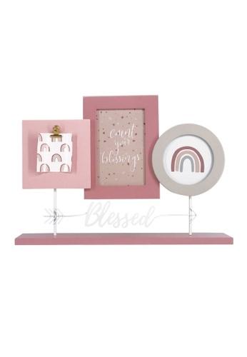 Klosh pink Trio Table Photo Frames - Boho Rainbow 5F32EHLA0D5972GS_1