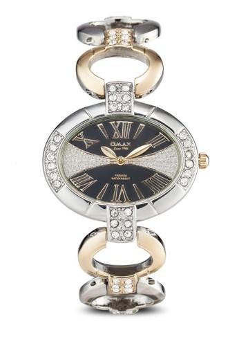 Omaesprit hk outletx OAB170SG 橢圓閃鑽鏤空鍊錶, 錶類, 淑女錶