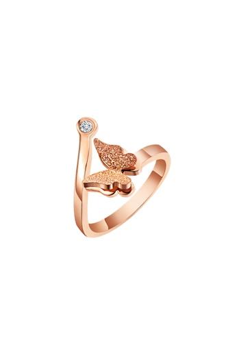 CELOVIS gold CELOVIS - Queen Alexandra Butterfly Ring in Rose Gold DDD21AC3843342GS_1