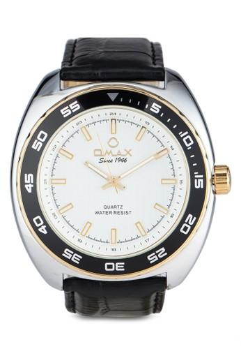 Omax OAS0121SG 仿皮圓框esprit旗艦店手錶, 錶類, 其它錶帶