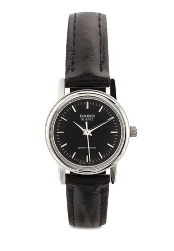 LTP-1095E-1ADF 皮革女esprit 澳門性圓錶, 錶類, 飾品配件