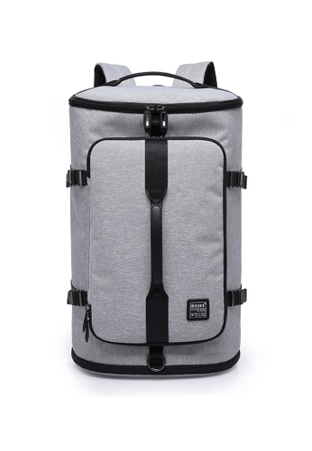 A FRENZ grey Large Capacity Travel Laptop Backpack, Outdoor Duffel Bag With Shoe Compartment 2EF7DACDD267ABGS_1