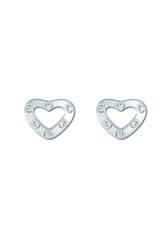 SC Tom Silver silver Heart with circles Stud Earring SC872AC48VPBPH_1