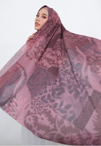 Harra Scarves red and multi Orchid Series - Berry 043CBAA66CB160GS_1
