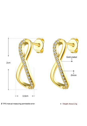 Tiaria yellow Tiaria Gold Plated Earing Hooks Fashion AKE126-A--K09 8549AAC699DD5FGS_1