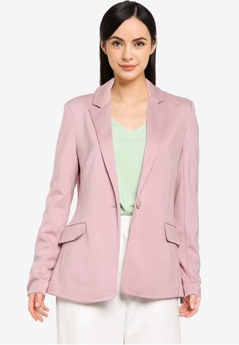 ONLY purple Pinko-Vika Long Sleeve Fitted Blazer 210CFAA3003D68GS_1