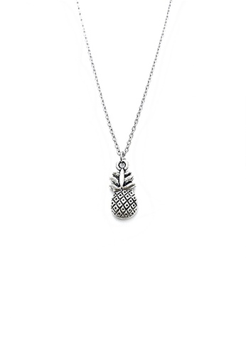 Trinkets for Keeps silver Pineapple Charm Necklace TR047AC56MJZPH_1