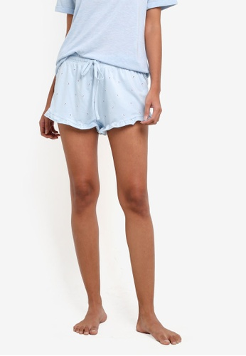 Cotton On Body blue Match Back Frill Shorts CO561AA0S9EVMY_1