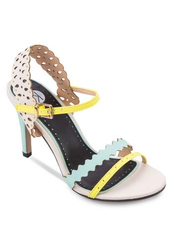 Flick 雕花繞踝高跟salon esprit涼鞋, 女鞋, 鞋