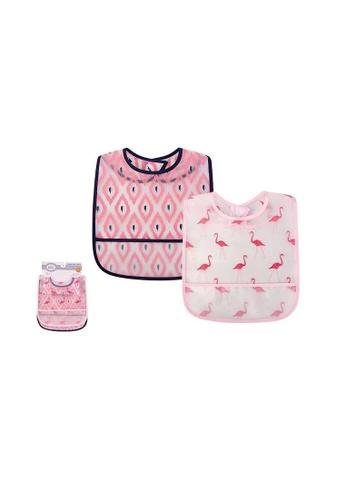 Little Kooma pink Luvable Friends Peva Waterproof Bibs 2 Pcs Pack 01095 Flamingo E2F7CKC64373DCGS_1