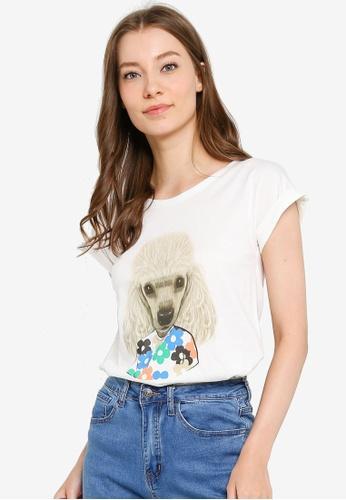 Compania Fantastica white Floral Print T-Shirt 47DC1AA2C3E325GS_1