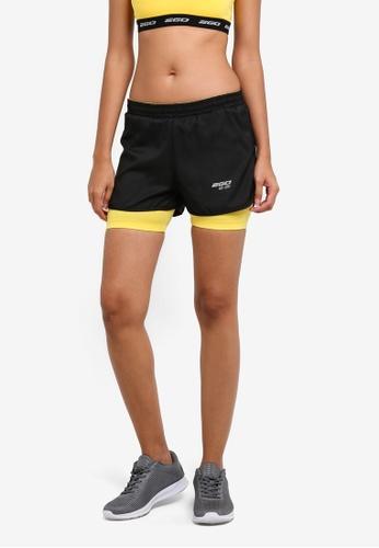 2GO black Inbuilt Tights Running Shorts 2G729AA0S5V0MY_1