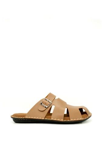 509fa195c4c Neckermann brown NKM Broadway Leather Sandals in Milo Brown  347C8SHDCF723BGS 1
