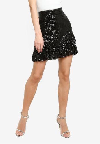 JACQUELINE DE YONG black Mimo Sequins Skirt 1BD86AAB18FDFEGS_1