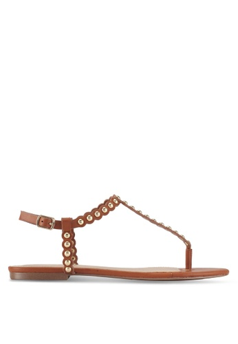 ALDO brown Balata Flat Sandals AEB06SH1E6847CGS_1