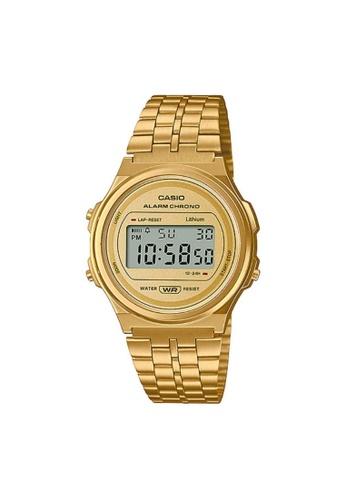 Casio gold CASIO GENERAL A171WEG-9ADF GOLD STAINLESS STEEL UNISEX'S WATCH D8307AC623B697GS_1
