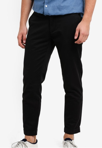 SPARROW GREEN black Brad Tapered Chino Pants SP065AA00LKHMY_1