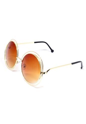 Amora Scarlett gold Ragdoll Round Brown Oversized Eyewear AM058AC0SI79MY_1