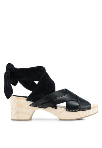 Free People black Emmy Wrap Clogs 1DB45SH19C7129GS_1