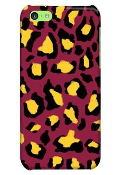 Funky Cheetah Print E Glossy Hard Case for iPhone 5c