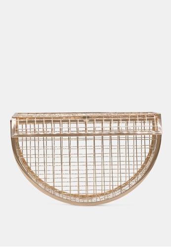 London Rag gold Half-moon cage sling bag 90D3CACC2FE3AFGS_1