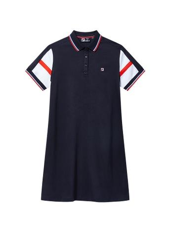 FILA navy Modern Chic Dress 4C293AA88CFCBEGS_1