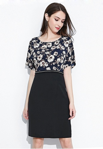 Urban Outlier black Floral Printed Dress 50F28AA1DEF571GS_1