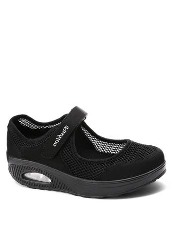 Twenty Eight Shoes 黑色 單橫帶網布搖搖鞋 VC699 0A157SH54A214AGS_1