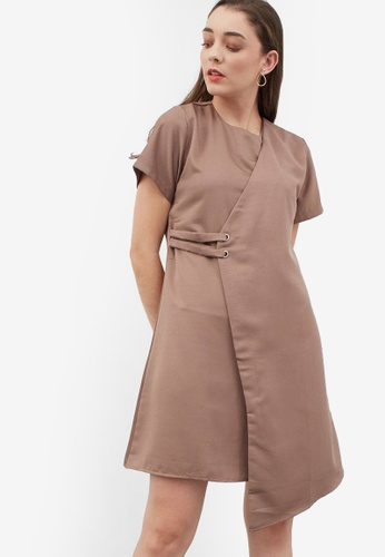 Berrybenka brown Hersilia Layer Dress E4FFEAA299E2F8GS_1