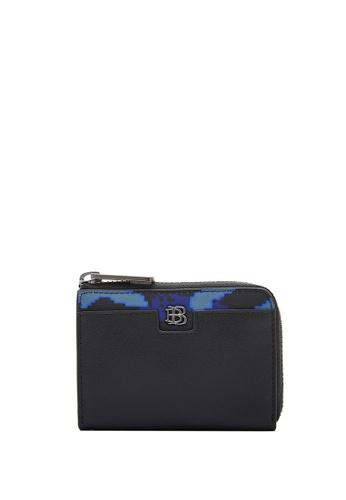 BONIA black Black Digouflage L-Zip Card Holder B2731ACD0DD1D0GS_1