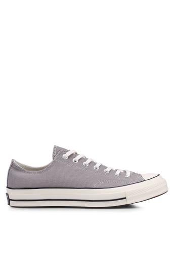 Converse grey Chuck Taylor All Star 70 Sun Bleached Asphalt Ox Sneakers 484D9SH97E7F2AGS_1