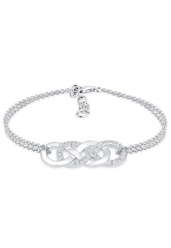 Elli Germany Silver Bracelet 925 Sterling Swarovski Crystals Infinity 6c4c8acd4db781gs 1