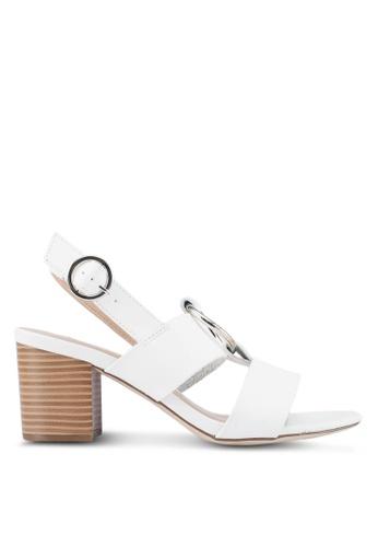 Dorothy Perkins white White 'Soho' Heeled Sandals B9670SHE23C216GS_1