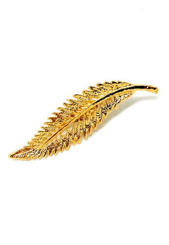 Paulini silver and gold Brooch Fern 1 (G) PA011AC71XUUMY_1