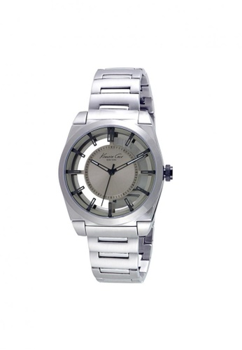 Kenneth Cole silver Kenneth Cole Silver Transparent Dial Watch KE854AC14NPHSG_1