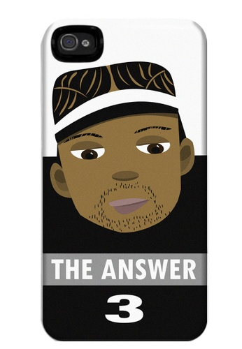 Wonder Cover black and white and brown The Answer Matte Hard Case for iPhone 4, 4s WO617AC75COUPH_1