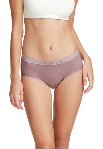 6IXTY8IGHT purple Alisha Solid, Stay Home Club Circular Knit Mid-rise Hiphugger Panty PT08389 7F9FEUS62E0A69GS_1