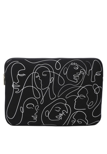 Milliot & Co. 黑色 Roxanne 15 Inch laptop Sleeve 55E35AC03A3F3AGS_1