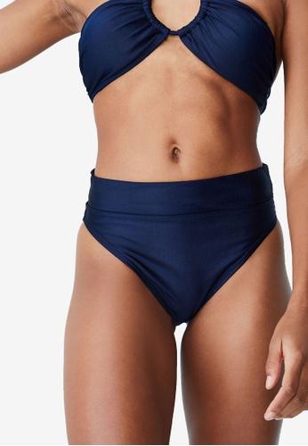 Cotton On Body blue High Waisted Cheeky Bikini Bottom 2166CUS94D3518GS_1