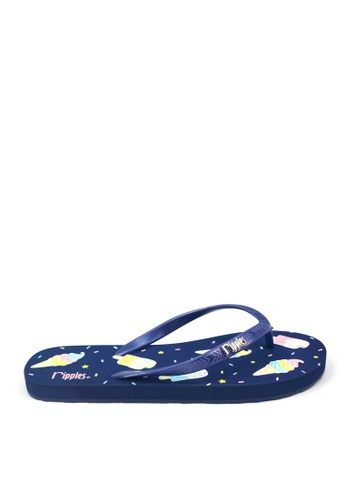 Ripples blue and multi Ice Cream Popsicle Flip Flops RI425SH0GP04SG_1