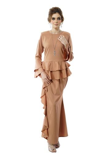 Baju Kurung Amanda from LARA NOUR in brown_1