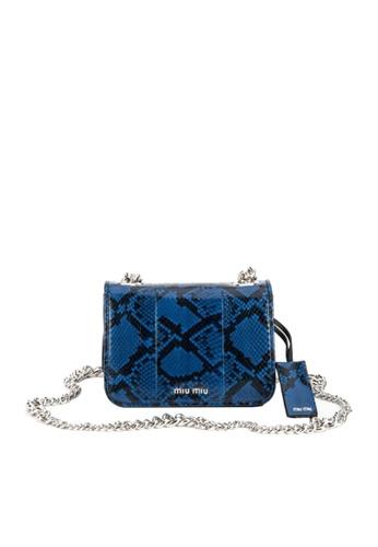 Miu Miu blue MIU MIU SHOULDER BAG F10D8AC78BD6A1GS_1