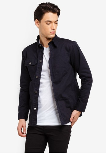 Brave Soul navy Cotton Utility Shacket 3E55DAAF28796DGS_1